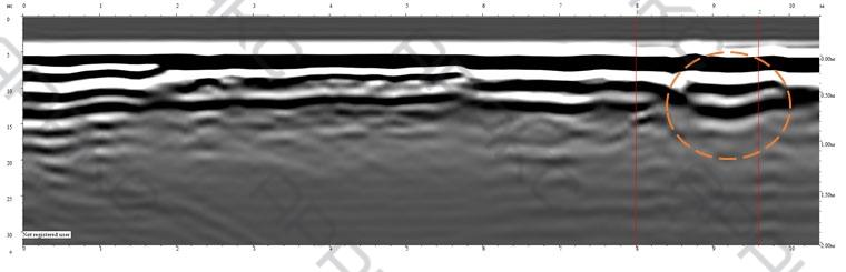 Георадарный Профиль 23п. Длина 10 м.