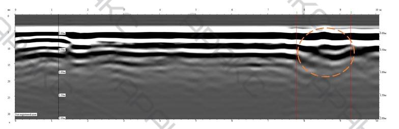 Георадарный Профиль 24п. Длина 10 м.