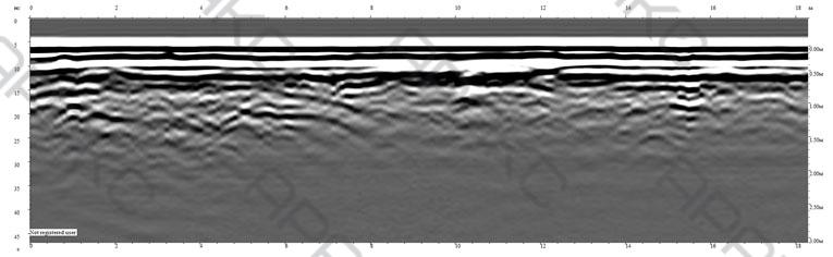Радиограмма. Профиль 5. Длина 18 м.