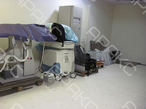 На исследуемой территории в помещениях были установлены рабочие установки и оборудование