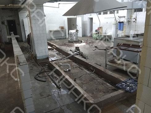 геофизические работы проводились одновременно с демонтажем стальных конструкций