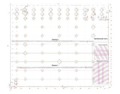 Схема обследования с выделенными участками