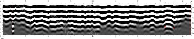 Радиограмма соответствует пересечению ливневой сети