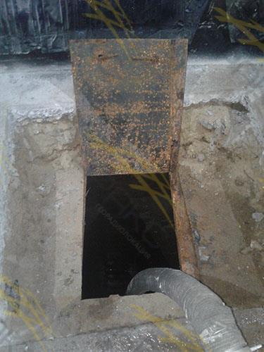 Обнаружение люка сточных вод с помощью георадара