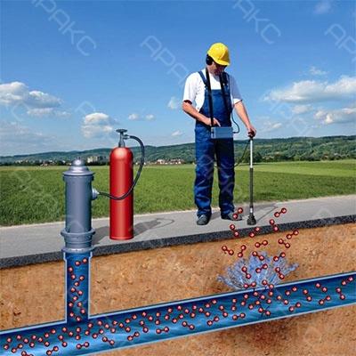 Применение газоанализатора для поиска утечки