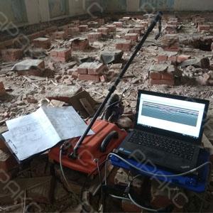 Поиска скрытых объектов в грунтах и строительных конструкциях