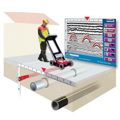 Георадар посылает электромагнитные импульсы и улавливает их после отражения от различных поверхностей