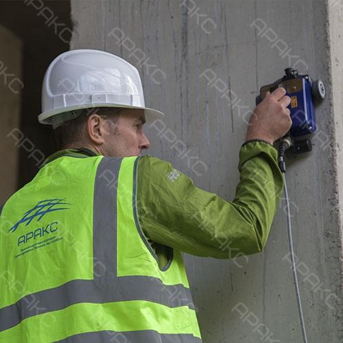 Бетоноскоп компактен и изначально настроен для работы с бетонными конструкциями