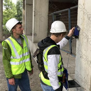 Применение бетоноскопа для обследования бетонной конструкции