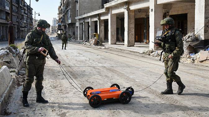 Применение георадара ОКО в Сирии