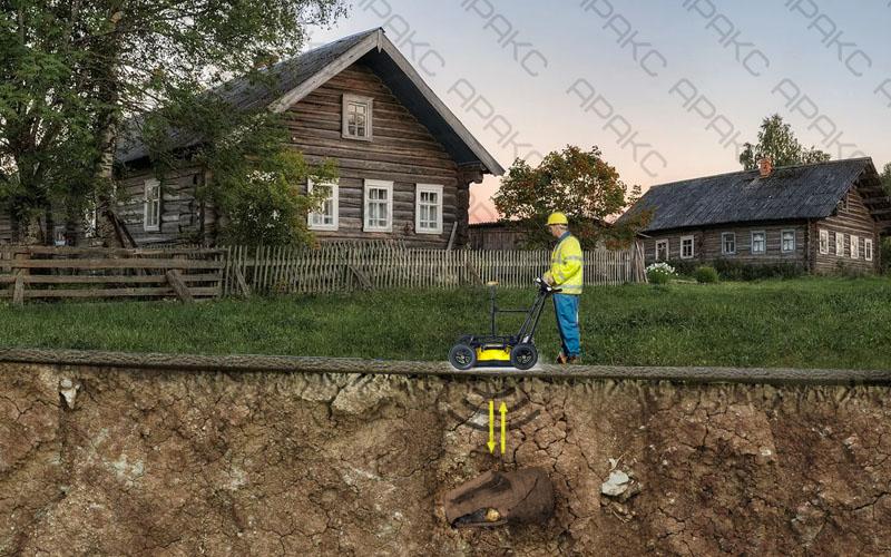 Поиск клада с помощью георадара