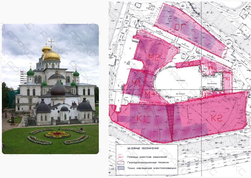 Археологическое исследование Новоиерусалимского монастыря