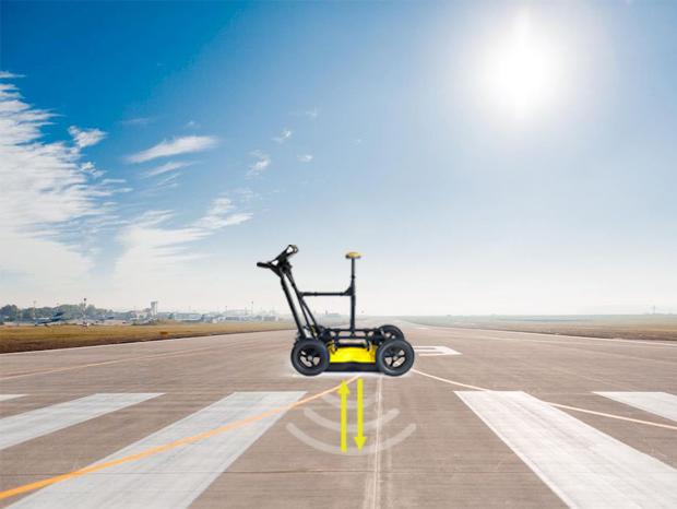 Георадарное обследование взлётно-посадочной полосы аэропорта