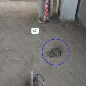Положение георадиолокационного профиля ГРЛП №47