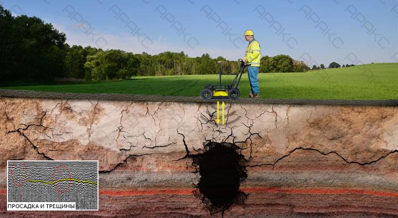 Обнаружение карстовых полостей при помощи георадарного обследования