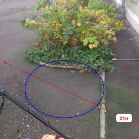 Рис. 3.11. Положение ГРЛП №21п и зоны разуплотнения №4 (синим)