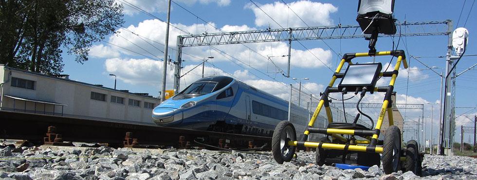 Обследование железнодорожного пути с помощью георадара